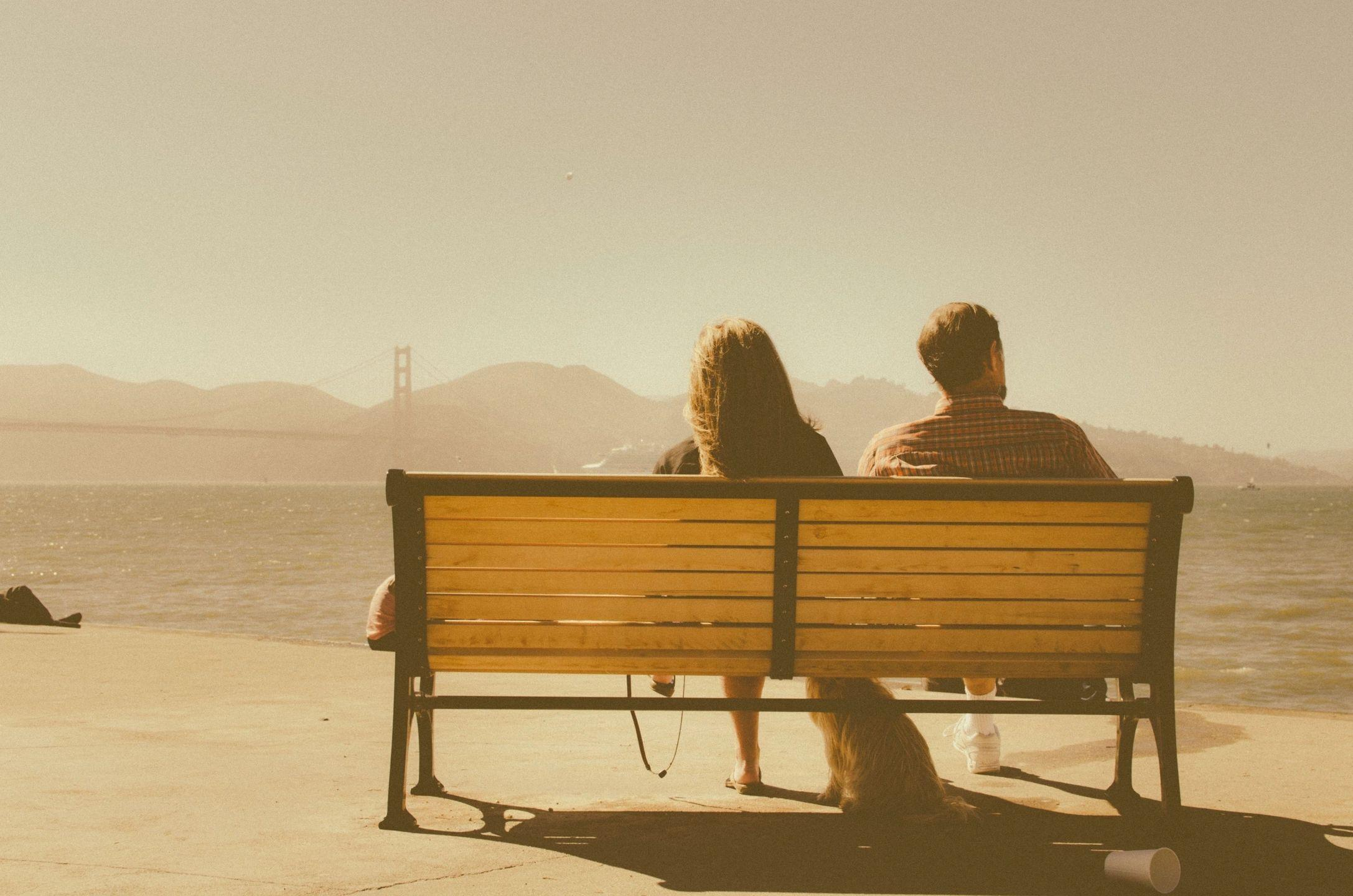 couple in bench