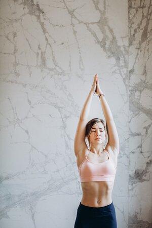 Fit woman doing yoga